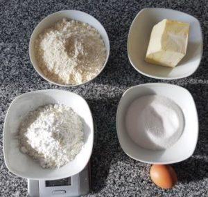 Zutaten für glutenfreie Kekse