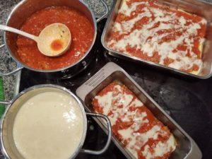 Lasagne glutenfrei und nicht-glutenfrei