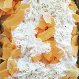 Kürbis Kartoffel Auflauf