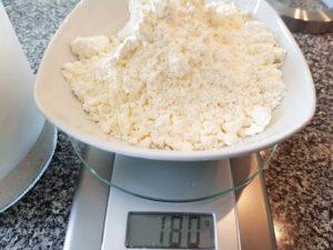 180 Gramm Mehl