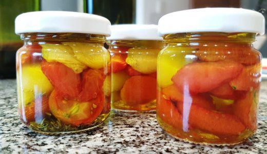 Getrocknete Tomaten in Öl eingelegt