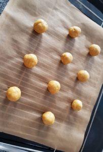 Geformte Erdnussbutterkekse